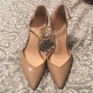 Jessica Simpson Shoes - Jessica Simpson nude heels 6.5